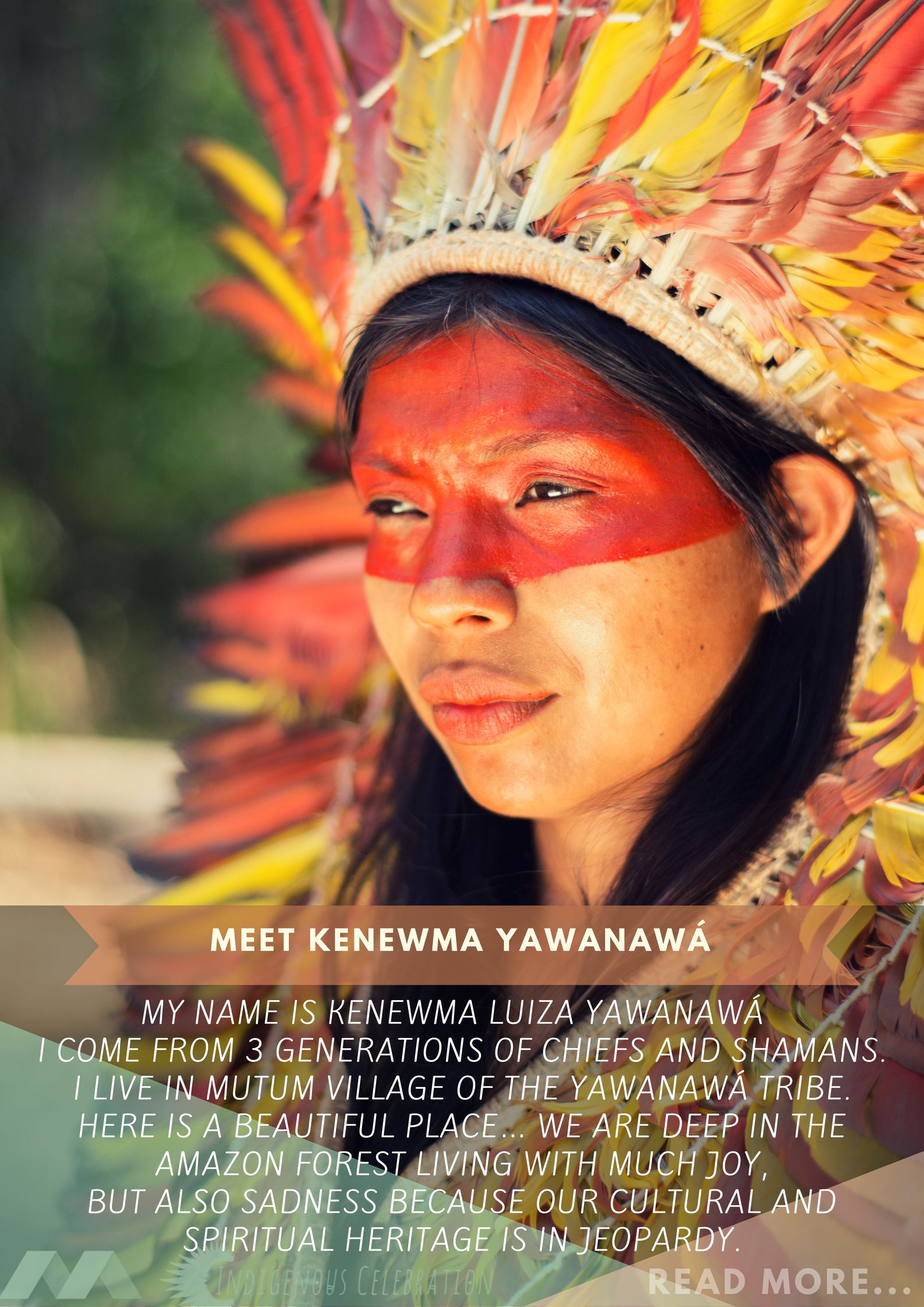 Promotional Flyers to introduce members of the Yawanawa tribe