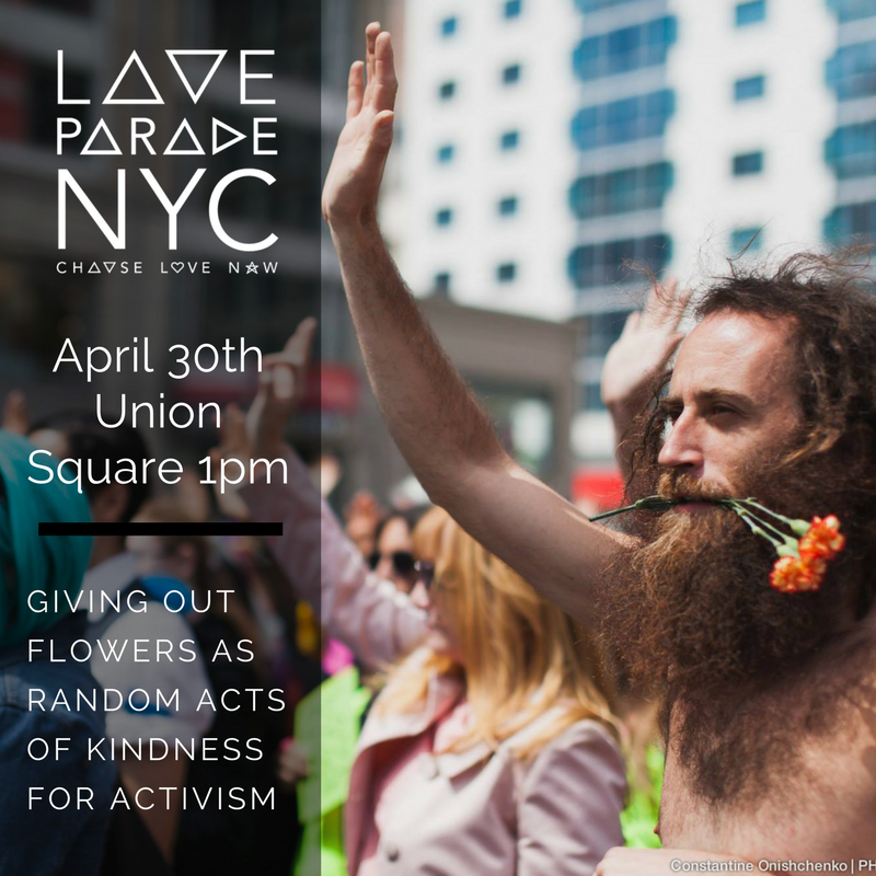 Digital Flyer for Love Parade NYC 2017