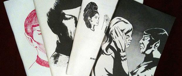 Figure 1: Four editions of the fan-published  zine  Spockanalia    [v]