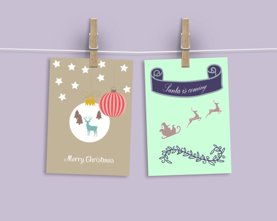 PRINT at HOME: Christmas Cards £4.16 by Francesca