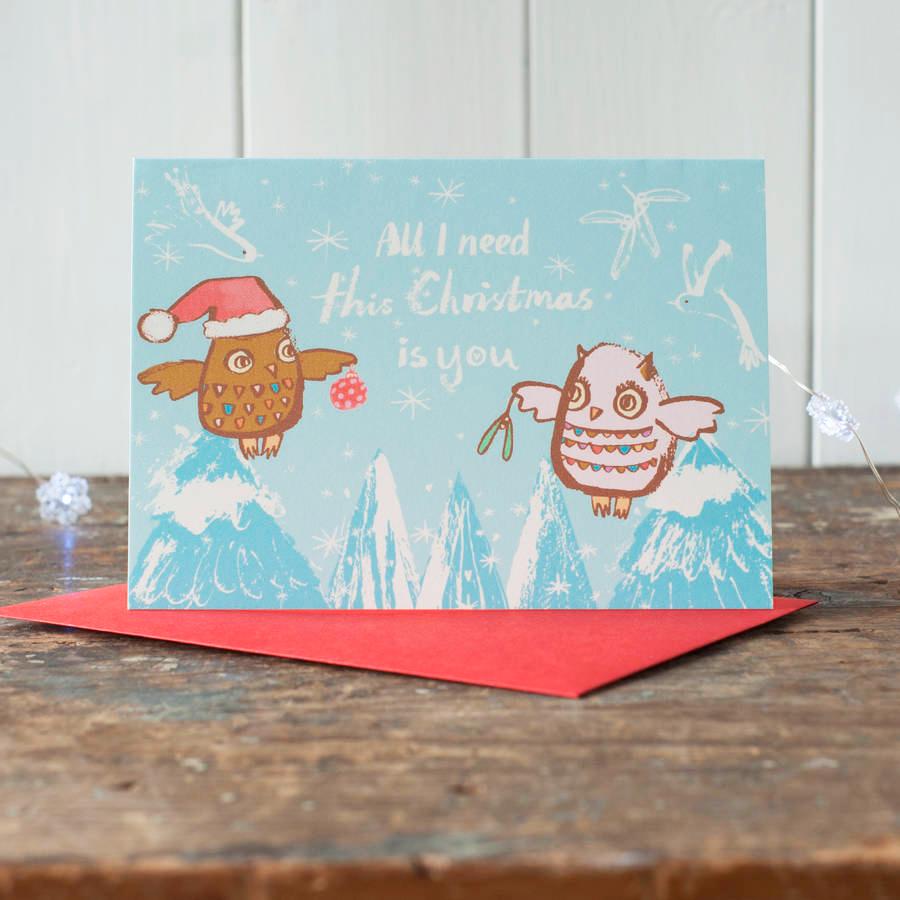 Romantic Owls Card - £3.75 by Gabriella Buckingham