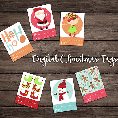 Digital Christmas Tags, £3 by ThePatternParade