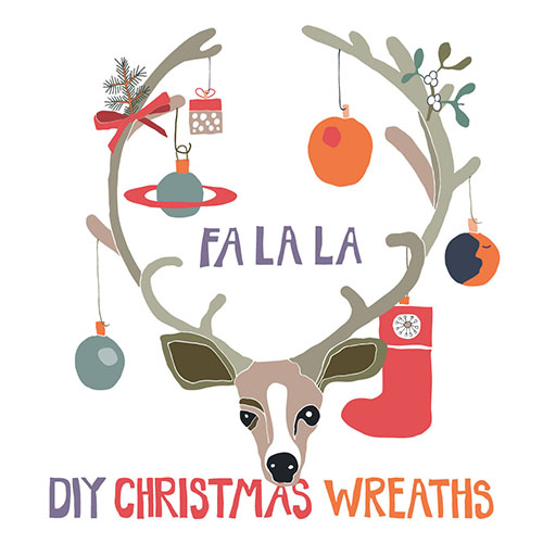 Christmas Reindeer Wreath Price $7 by Catha  rina England