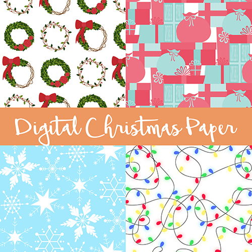 A4 Digital Christmas Papers, £4 by ThePatternParade