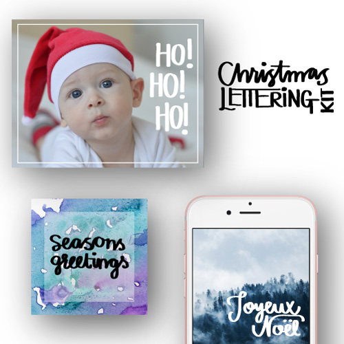 Christmas Lettering Kit $14 by Catharina England