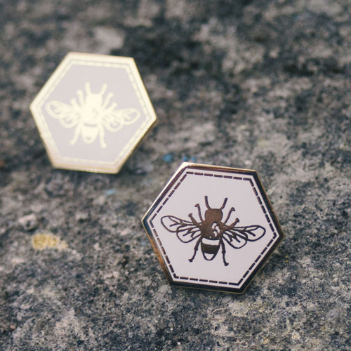 Bee Enamel Pin Badge £7  by Mellybee