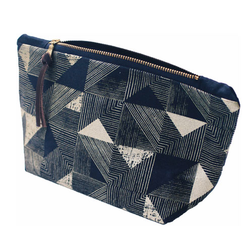 Cosmetic Bag Gold Triangle Patten £28 by Mellybee