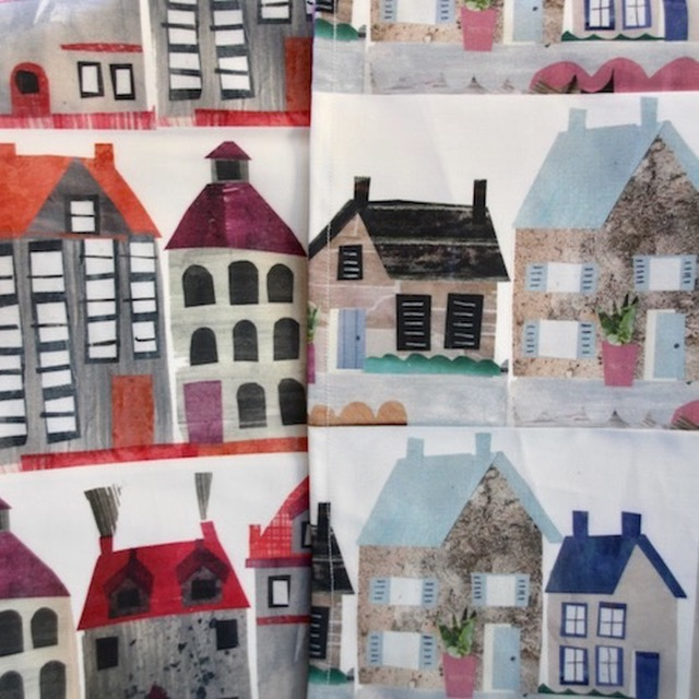 Town Houses Tea Towels £11.42 by Tracey English
