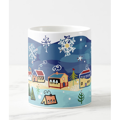 Christmas Village Mug by Leticia Plate