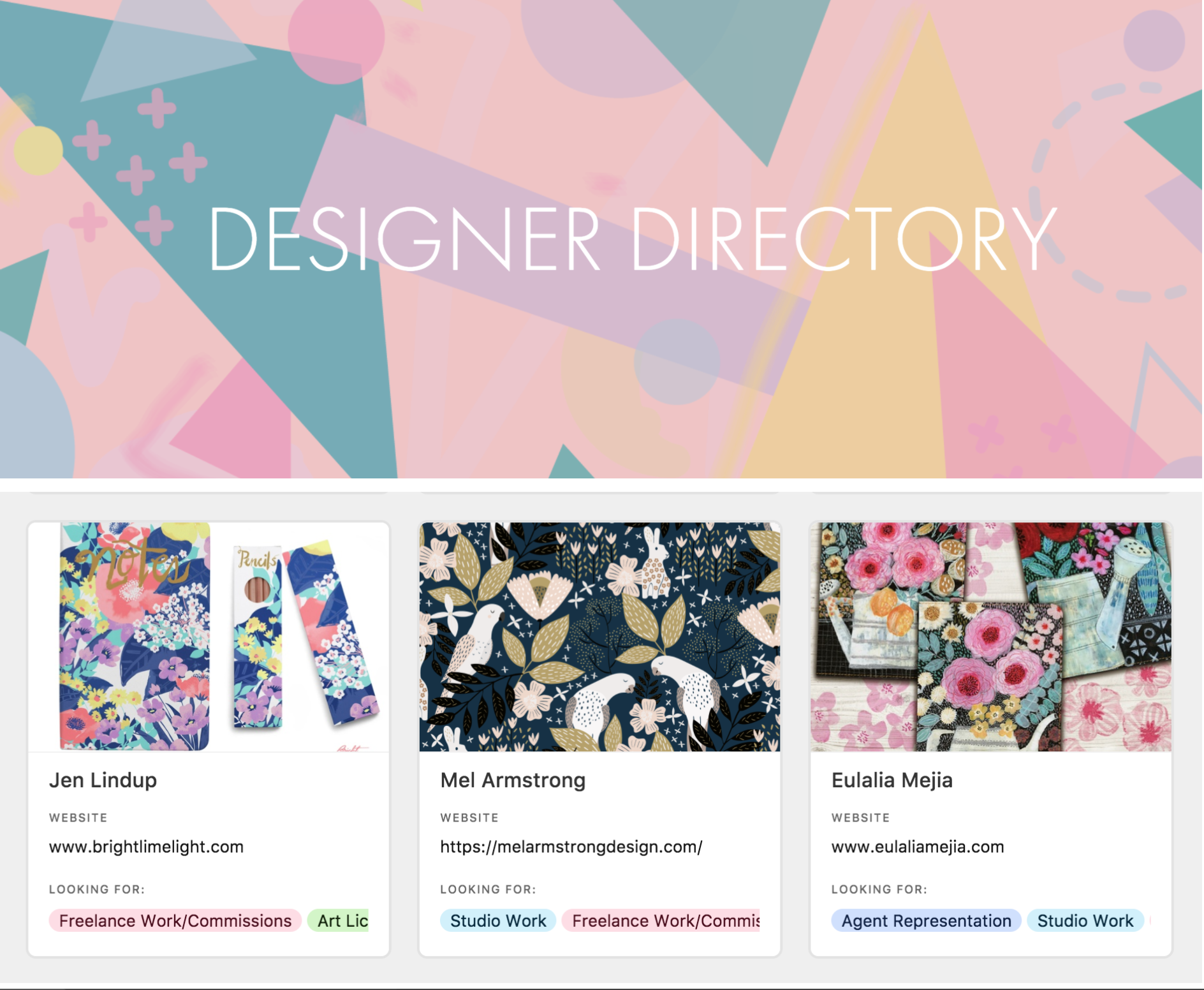 RISE DESIGN AND SHINE DESIGNERS DIRECTORY