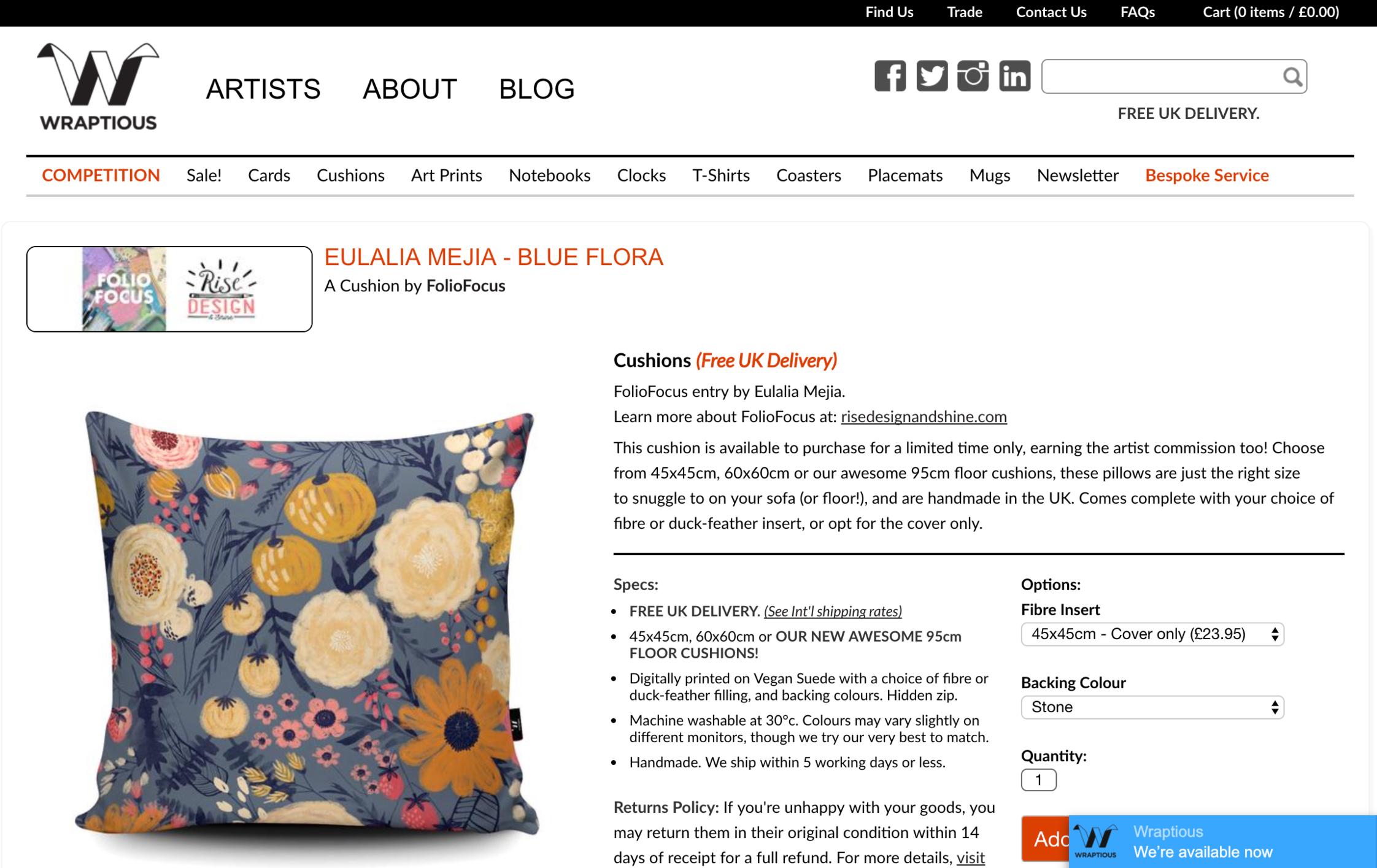 Eulalia Mejia - Blue Flora Wraptious FolioFocus Submission 2017