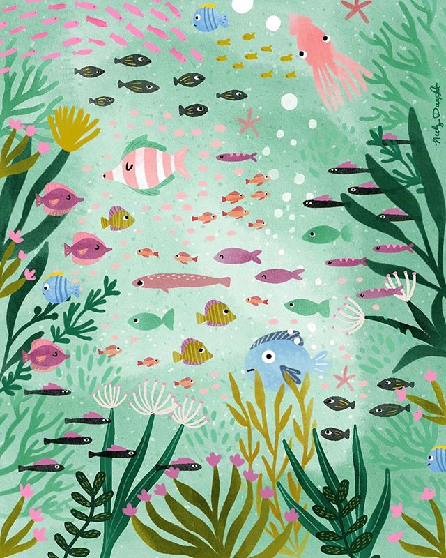 Midweek into a new brief but I'm still not over all the week one amazingness! 🐠🐳🐟#Repost @neelydaggett ・・・ My quirky concept for a sea life themed quilt for folio focus kids. 🐟🐠🌸 I love the ocean but since moving to Oregon I never get in the water. I imagine so many things happening below the surface and it gives me the heebie jeebies. Plus the water is freezing! 🥶 #foliofocuskids #foliofocus2019 @risedesignandshine . . . . . . . #risedesignandshine #textiles #kidsdecor #foliofocus #kidsbedroomdecor #oceanhomedecor #createeveryday #sealife #illo #kidstrends #homedecor #womenwhodraw #illustration #digitalillustration #fishillustration #oceanart #wip #artlicensing #graphicdesign #portland #pdxartist #oregon #makeartthatsells