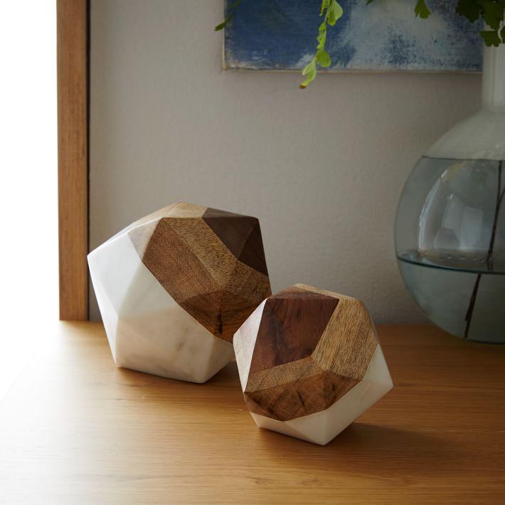 $49.00 Marble +wood Geometric Objects