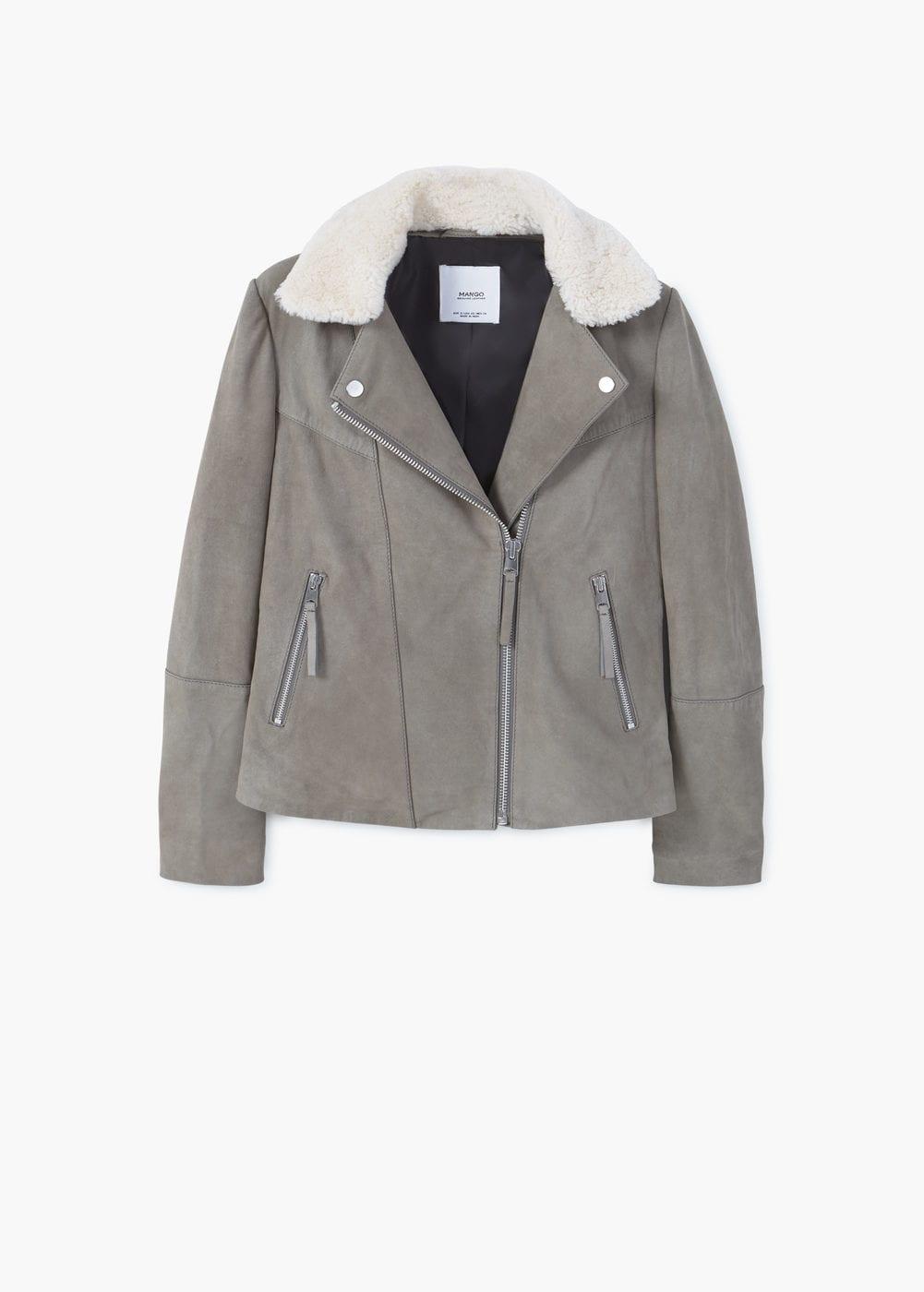 Mango Aviator leather Jacket $249.99