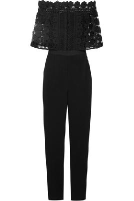 Lace Crepe Jumpsuit $400.00