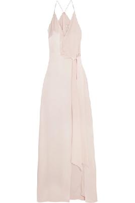 Tie-front Satin Gown $495.00