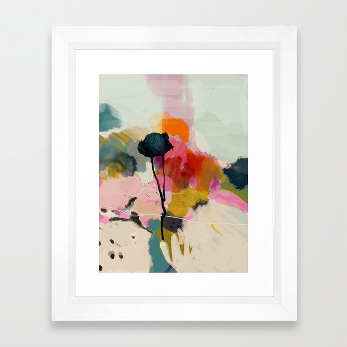 paysage abstract Framed Art Print $65-$293