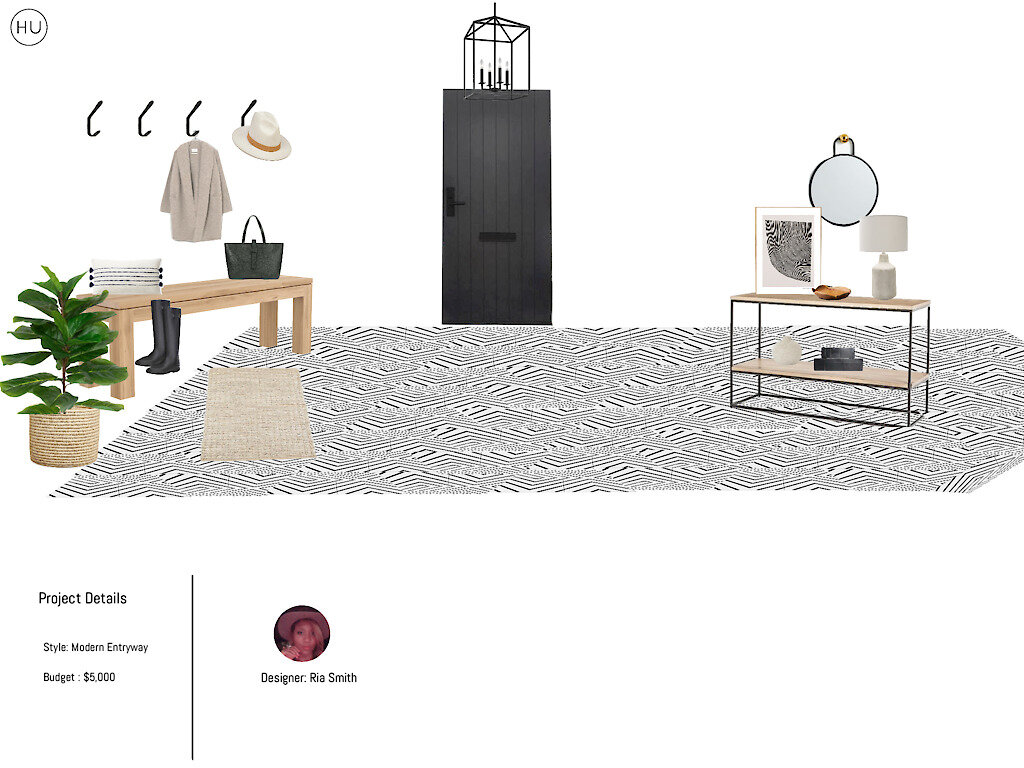 Project Details | Style: Modern Entryway | Budget: $5,000