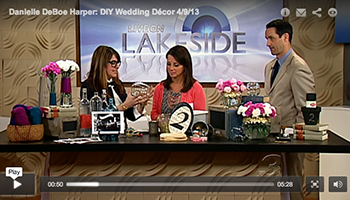 """DIY wedding decor ideas"" Live on Lakeside April 2013"