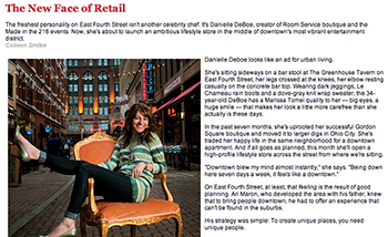 """""""New Face of Retail"""" Cleveland Magazine June 2011"""