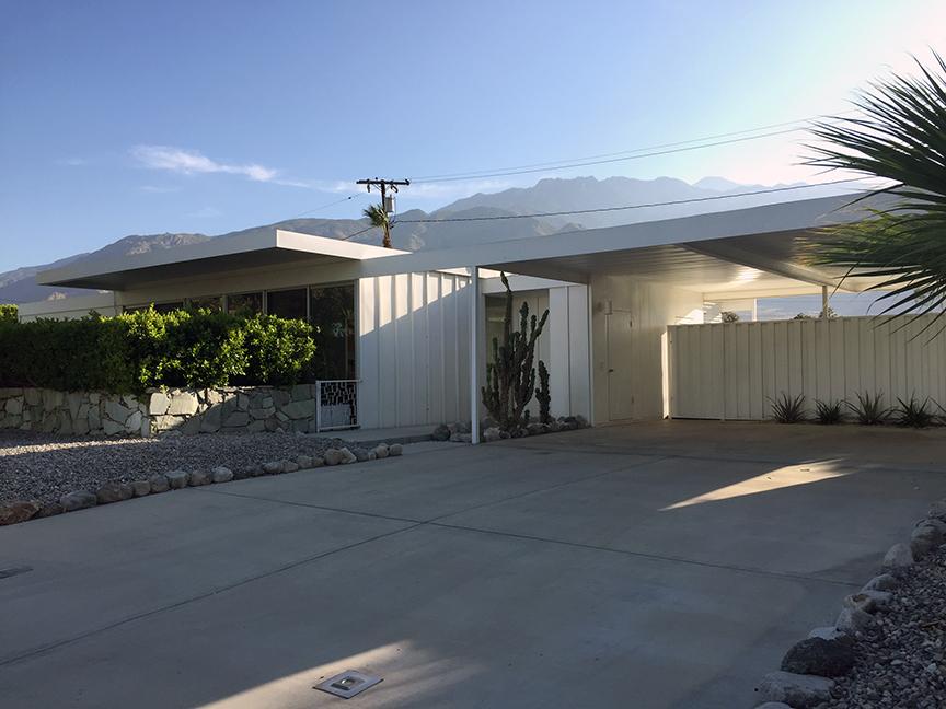 1,400 sq. ft. prefab Alexander Steel House,designed by Donald Wexler,1960-1962.