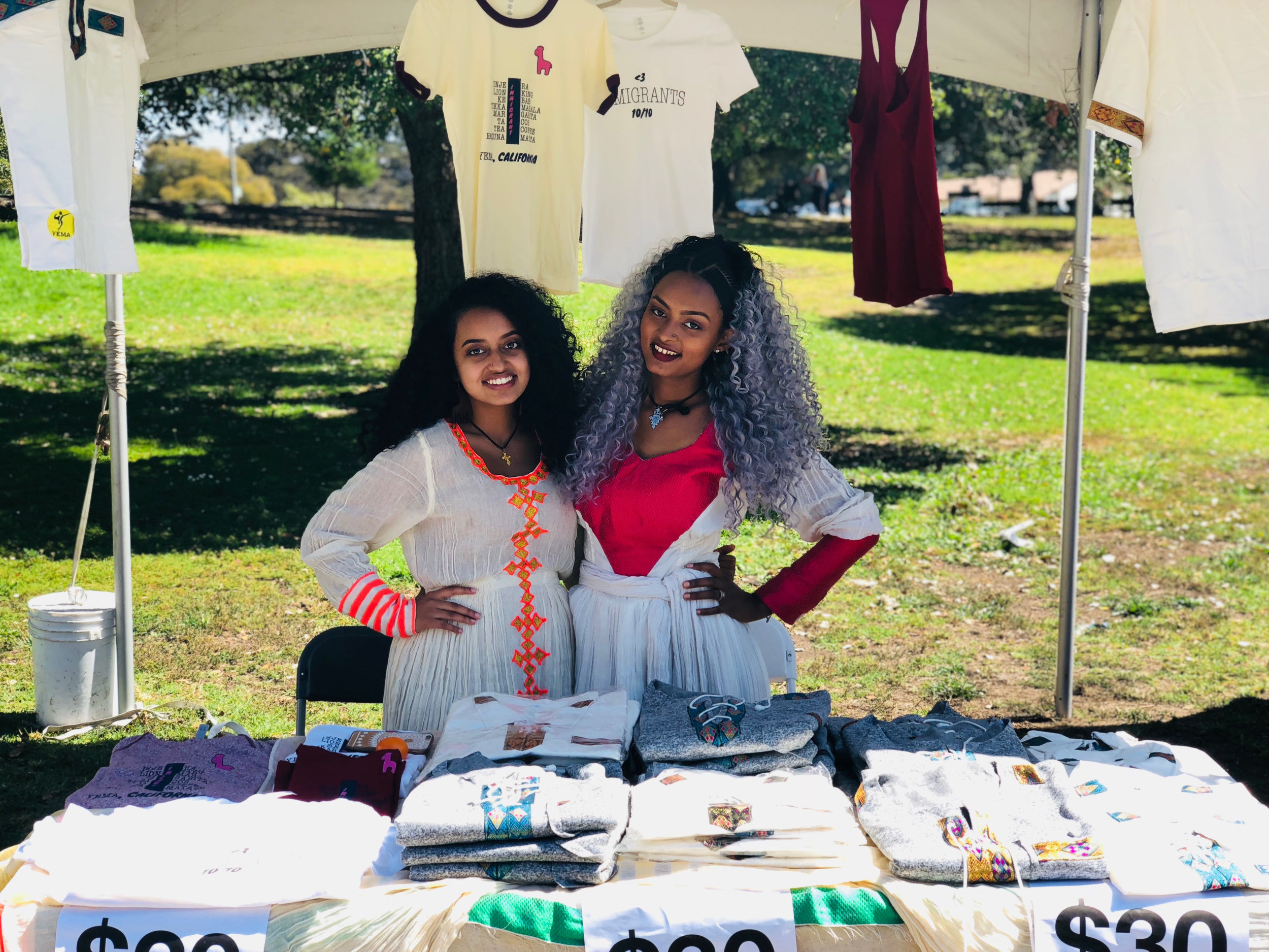 Oakland, California - Our booth at the Ethiopia New Year celebration.