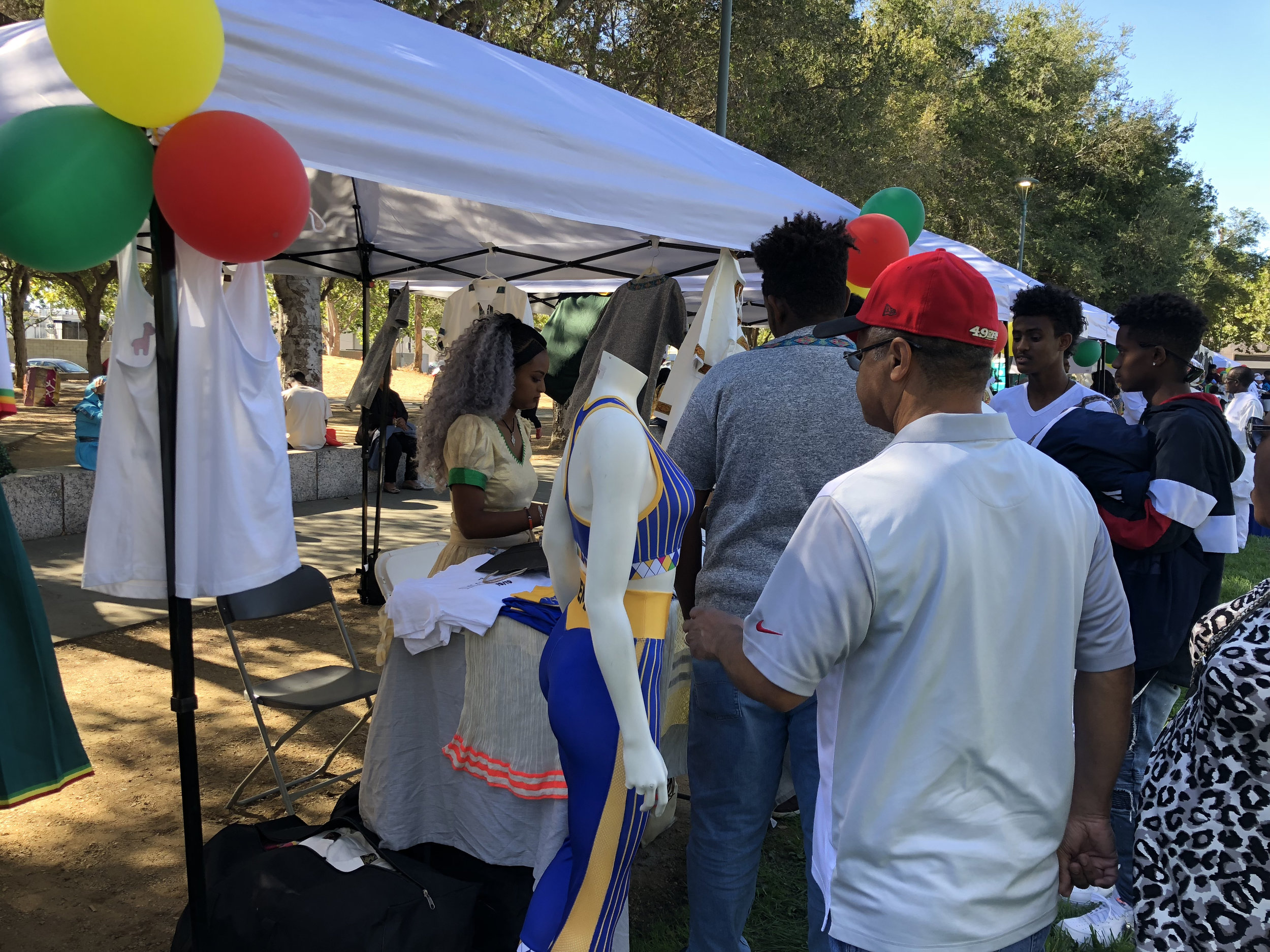 San Jose, California - Interacting with our supporters at the Ethiopia New Year event.