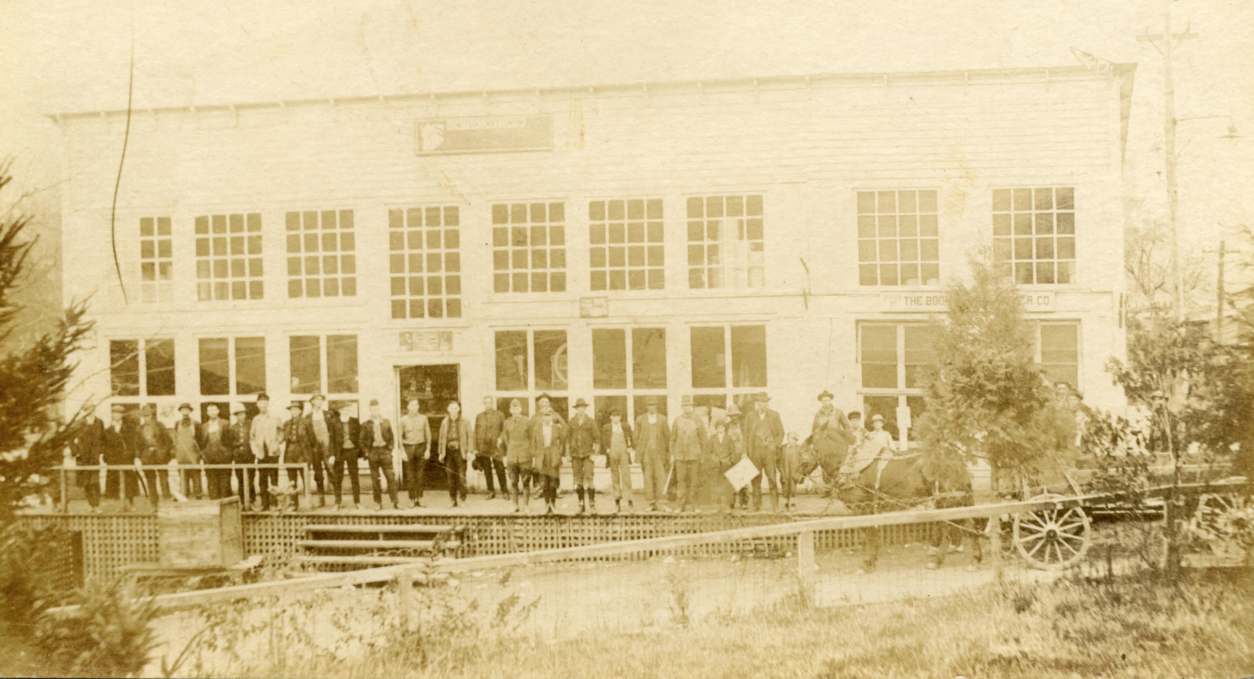 The Boone Fork Lumber Company Commissary at Shulls Mills, NC, from the forthcoming Lowery-Whiting Collection, Digital Watauga Project.