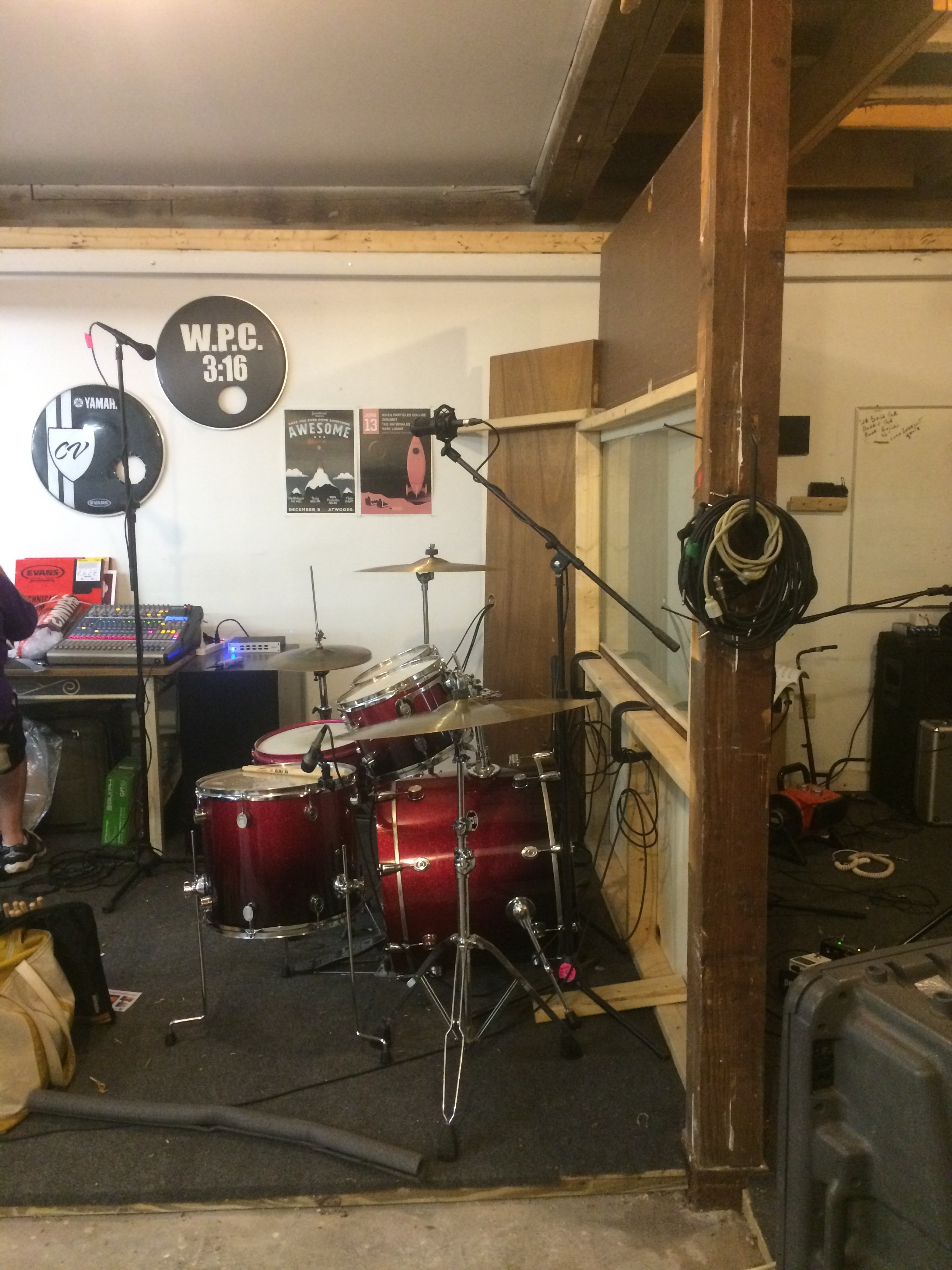 When Particles Collide's practice/ recording space