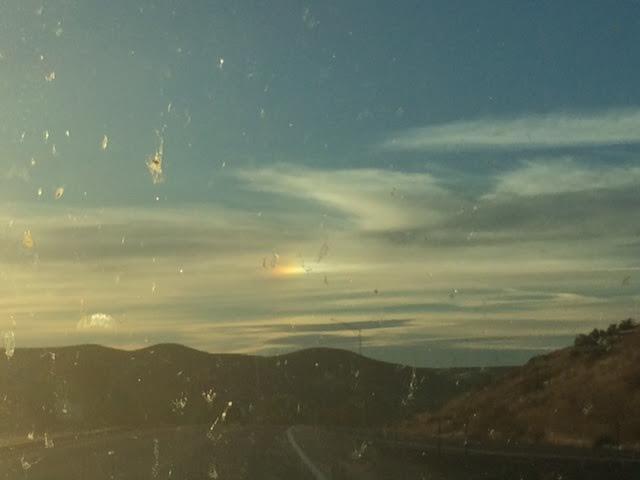 Little weird cloud rainbow on the top right.