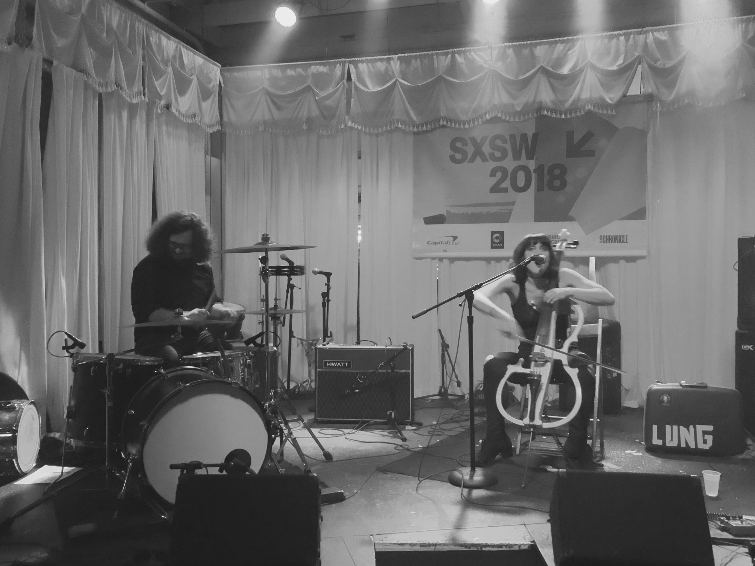 SXSW official Showcase was at Swan Dive presented by Old Flame Records and Outer Orbit Booking. We played with our good buds Dawg Yawp, and Frontier Folk Nebraska (both out of Cincinnati).