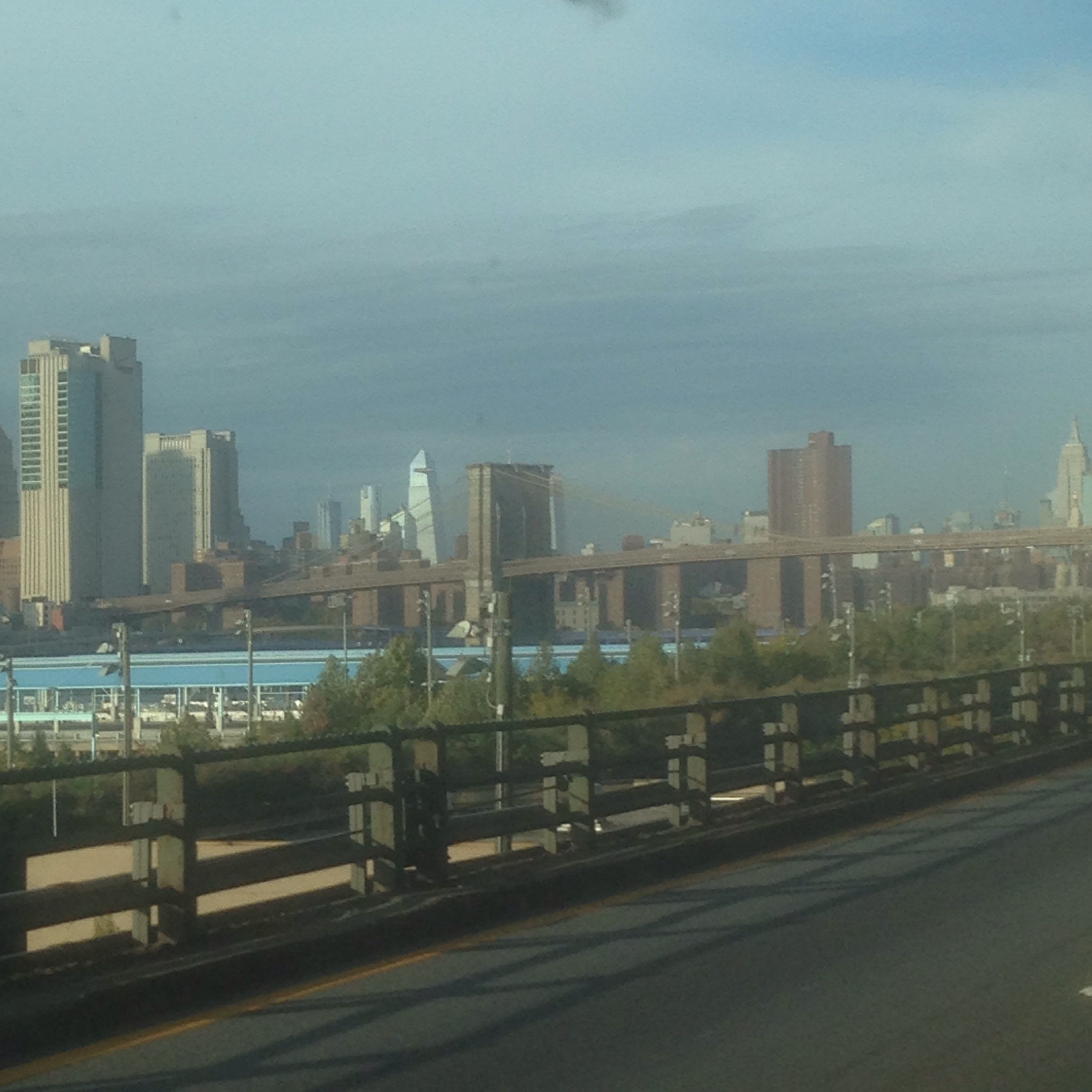 On the way into the city