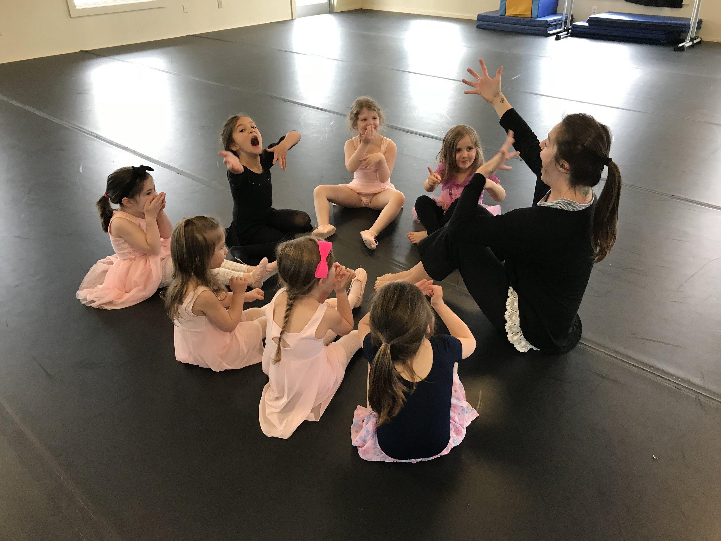 CREATIVE BALLET ARTS  ages 4 - 6  TUES 3:45 - 4:30 pm