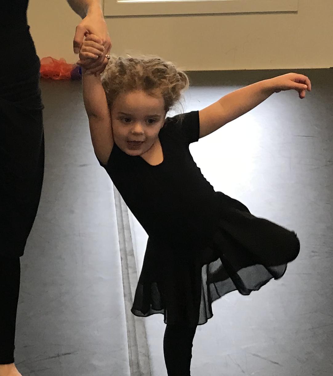 DANCE WITH ME  ages 18 months - 4 w/Adult  SAT 9:45 - 10:30 am