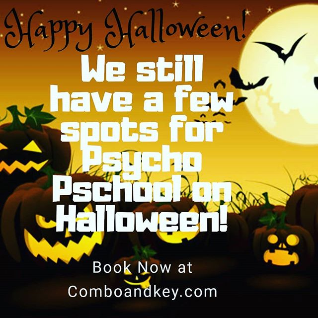 Any plans for Halloween? We still have a few spots left for Psycho Pschool! Book online now!