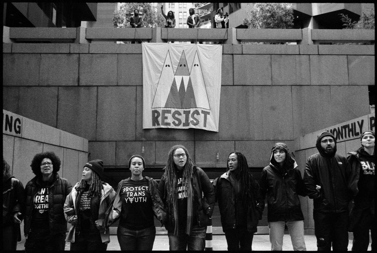 "No. 0500_09A - ""Resist"" Bank of America building, San Francisco, Ca. January 20th, 2017."