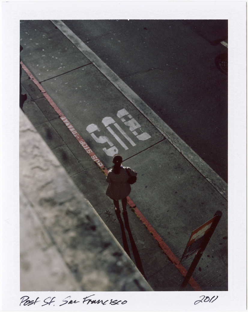 "Post Street bus stop, from my studio window. San Francisco, California / 2011   Excerpts from the book  ""Fragments""    Signed Copies   On Demand @Blurb   Online Shop"