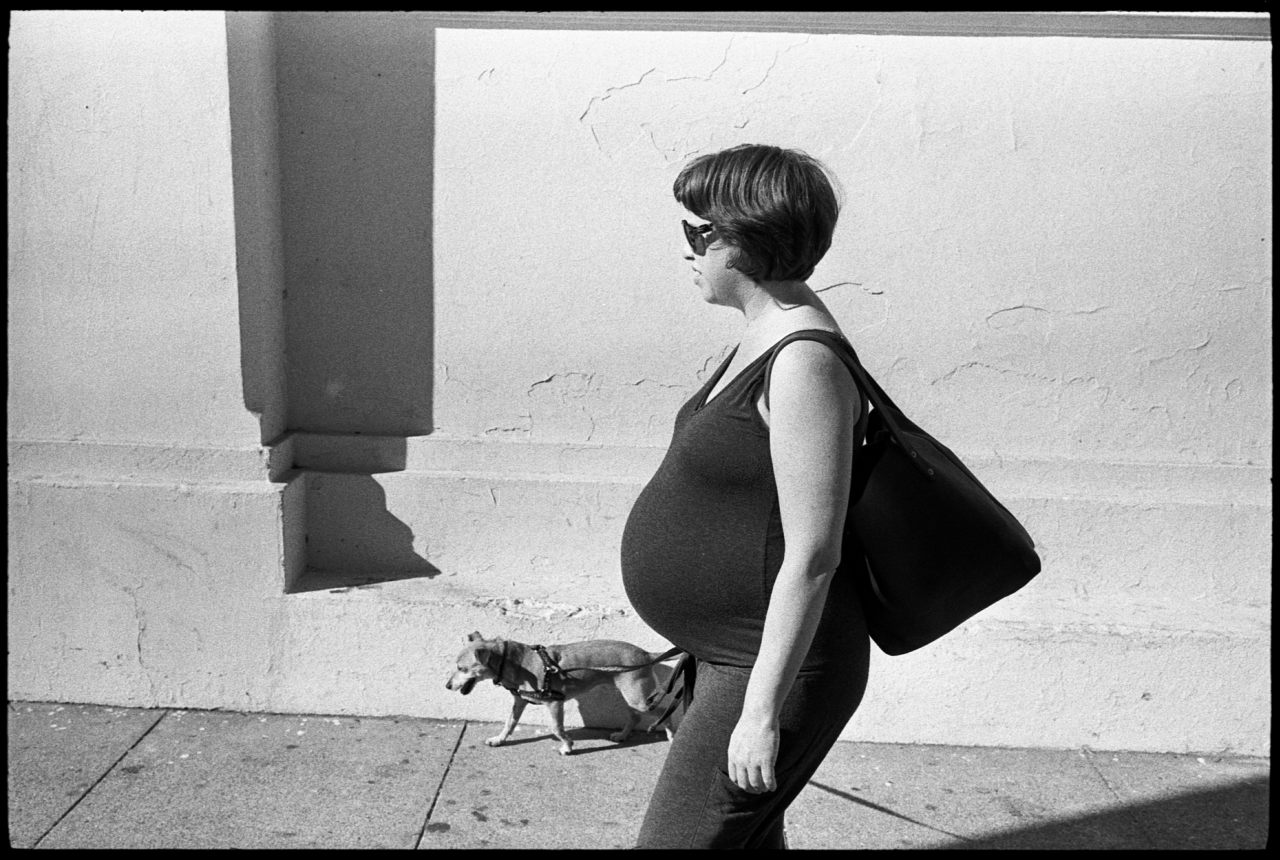 Joanna, 18th Street, 8 1/2 months pregnant.