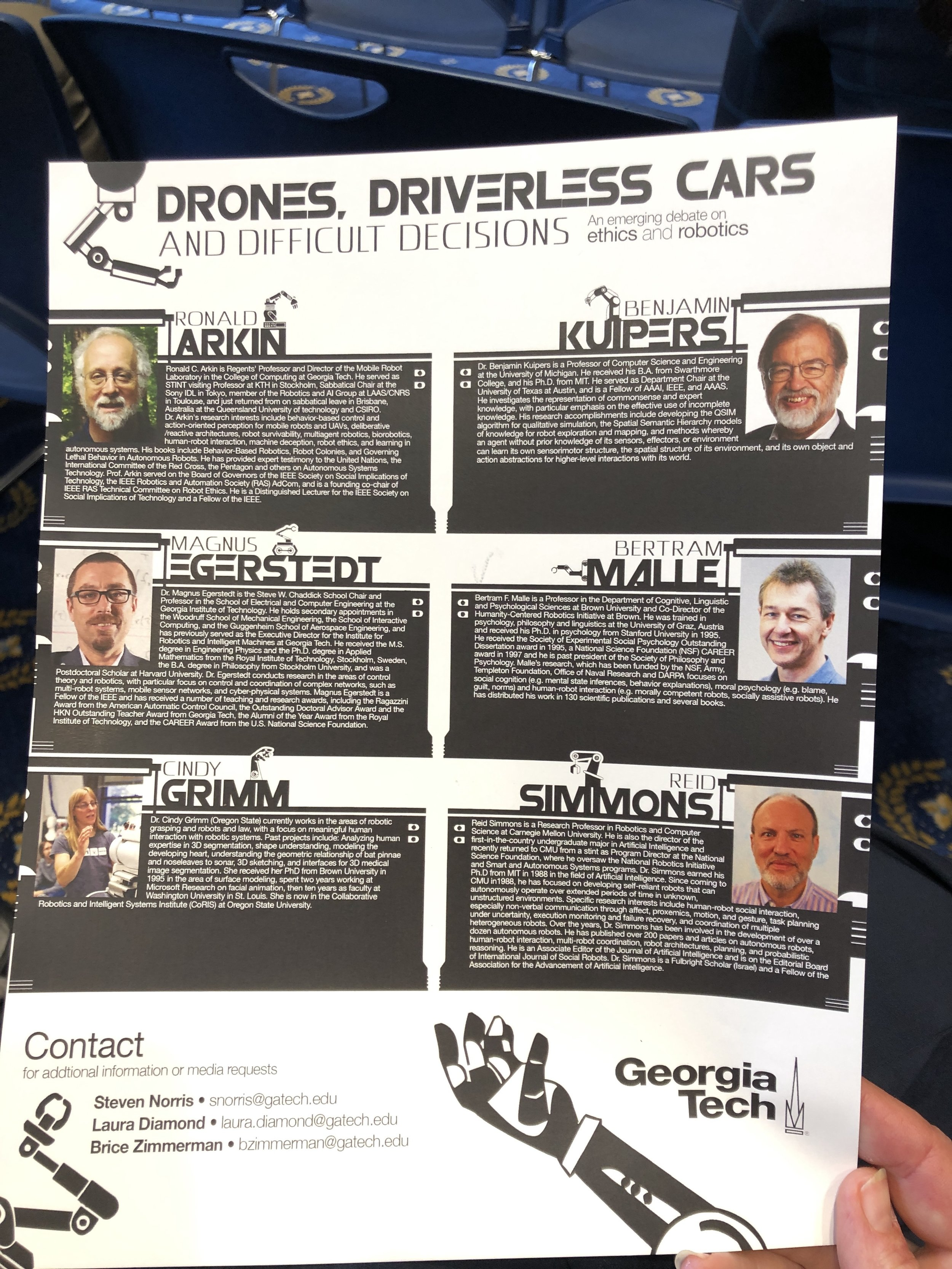 Drones, Driverless Cars & Ethics