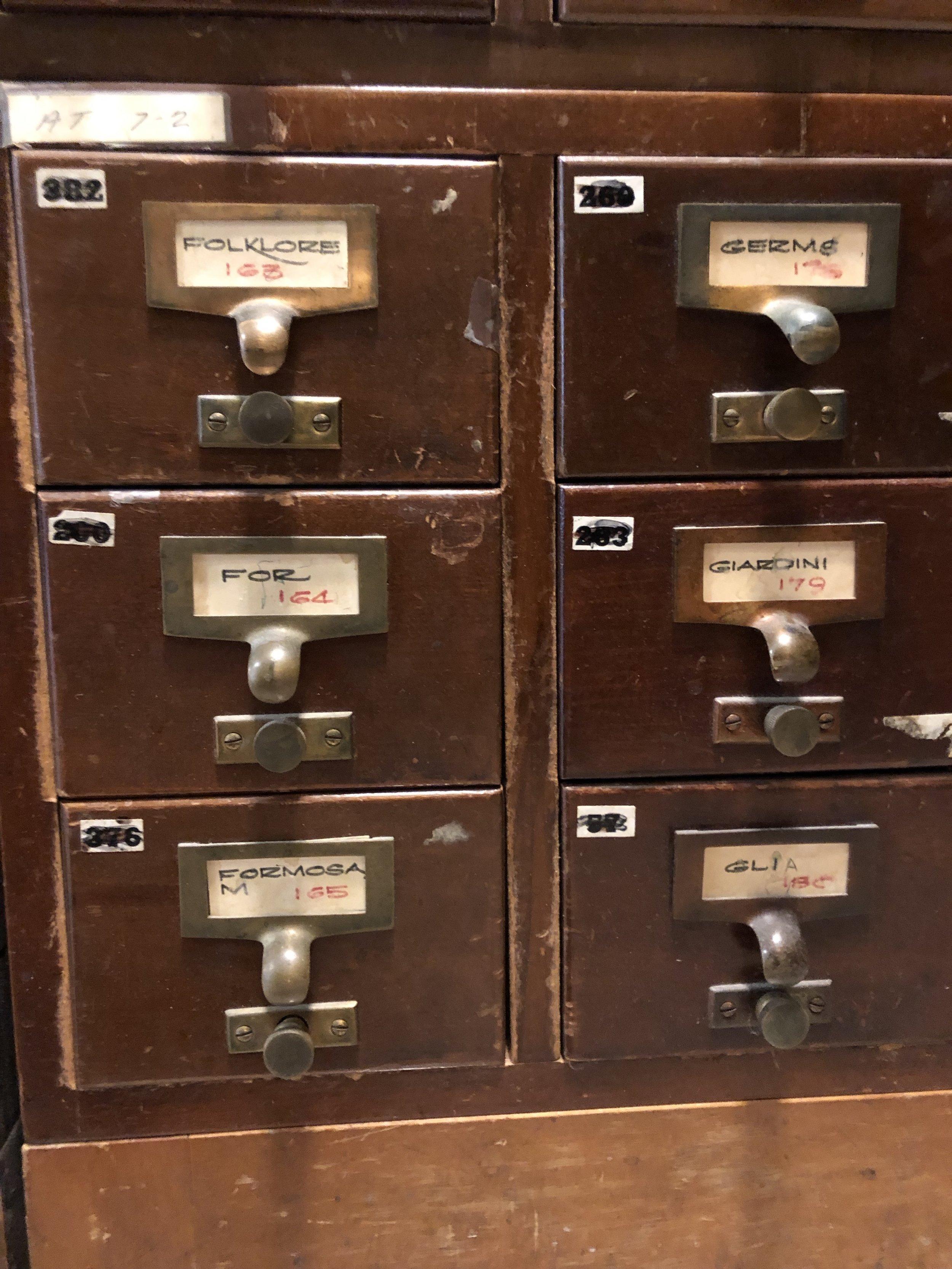 Card Catalog Drawers