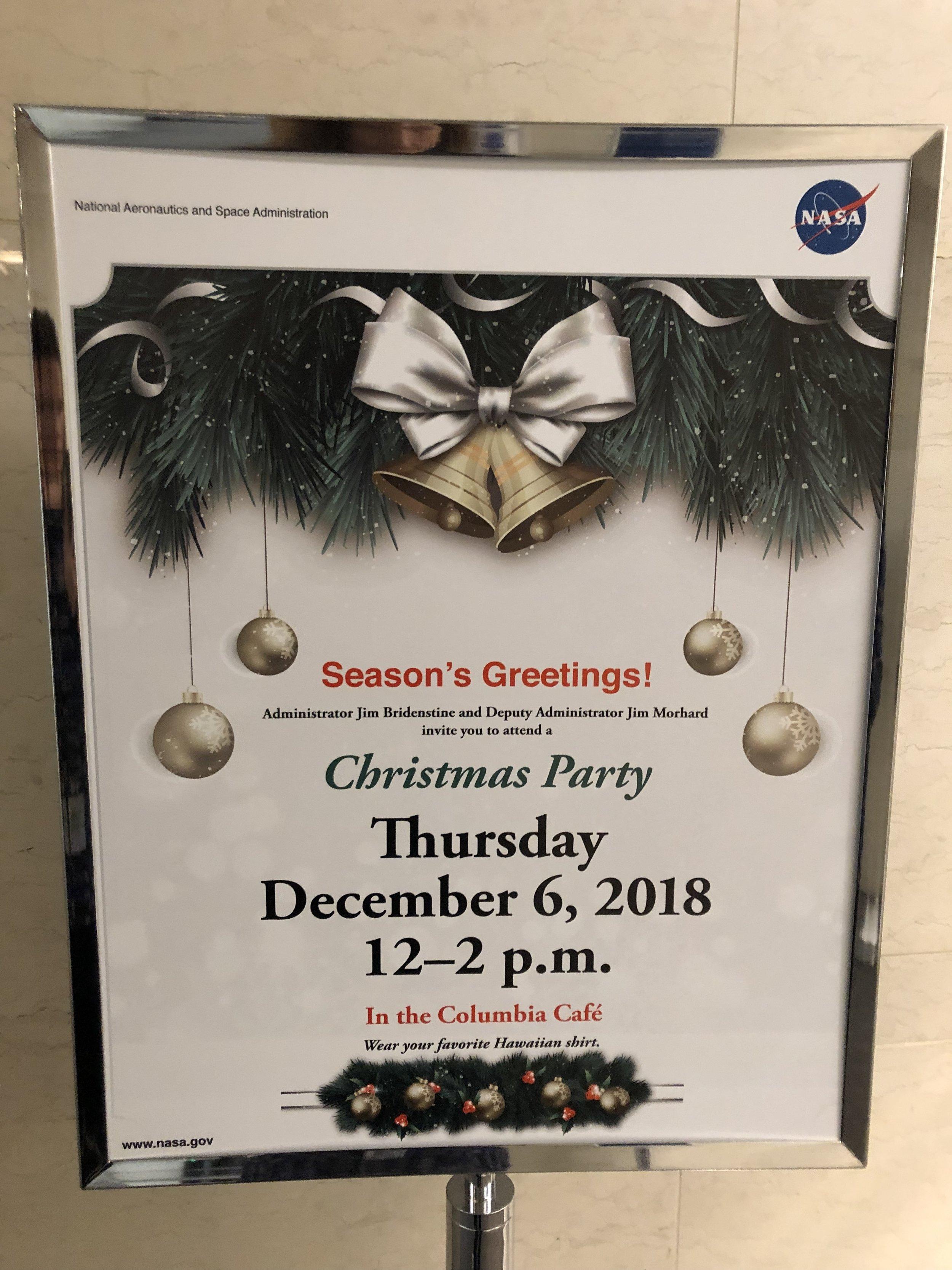 NASA Holidays