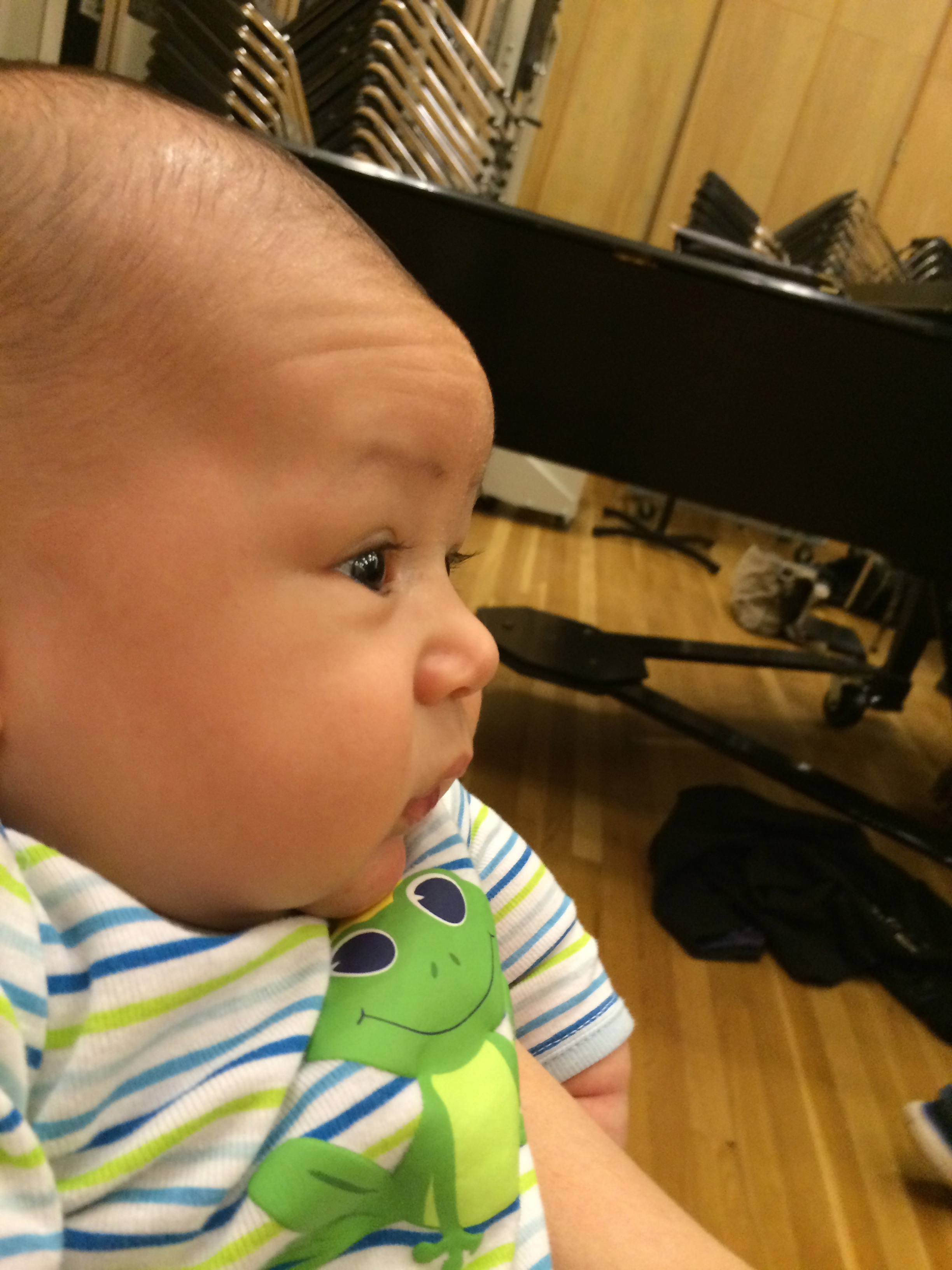 (Photo: my son Will, mesmerized at his first choral rehearsal, November 2014)