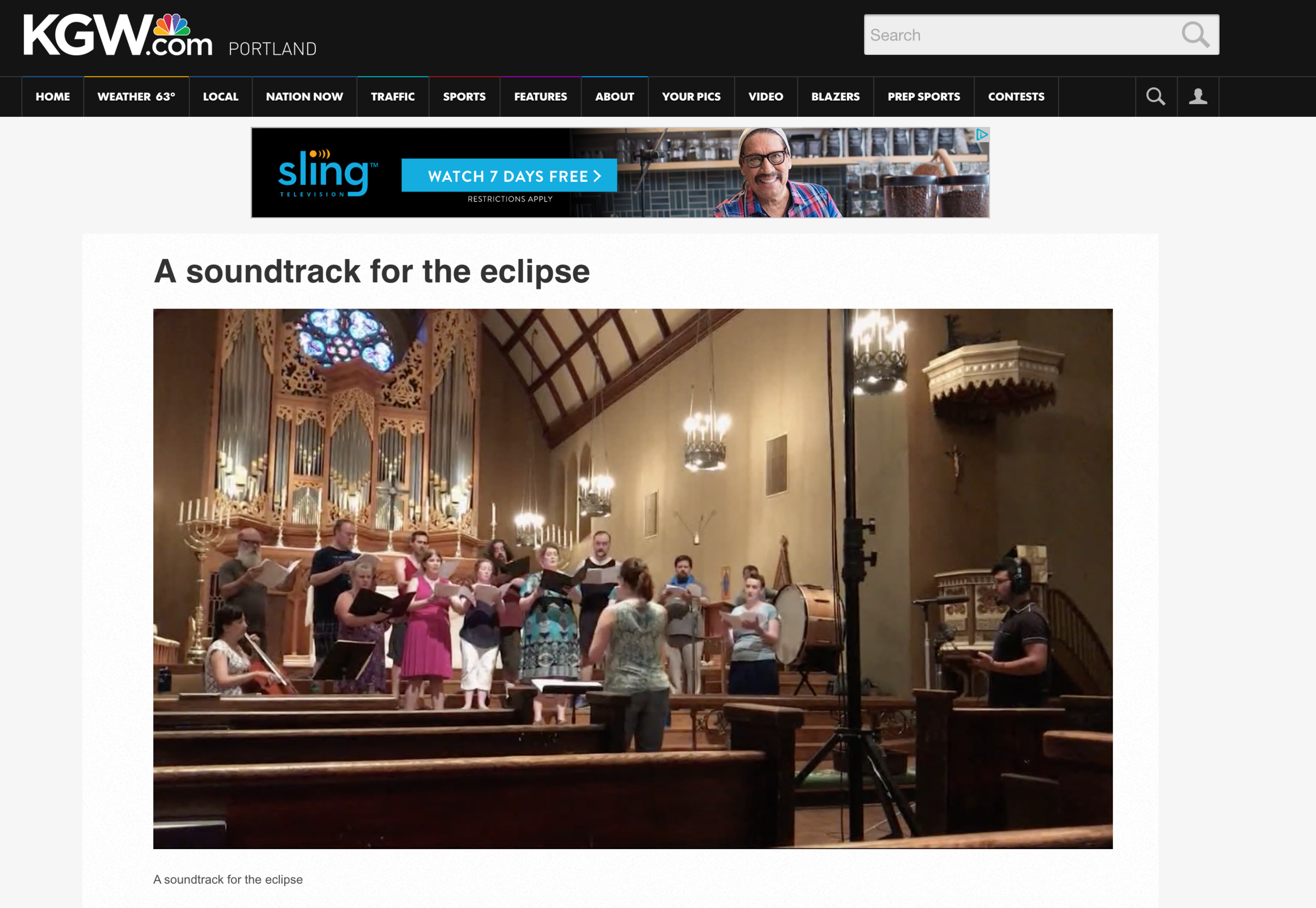 Fantastic KGW Promo!  Kudos to All Classical Portland's, Suzanne Nance and  The Body of The Moon  composer Desmond Earley for this great interview on KGW about our upcoming soundtrack for the eclipse, being performed by Resonance Ensemble, Nancy Ives, Chris Whyte, and Erick Valle.   Check it out!