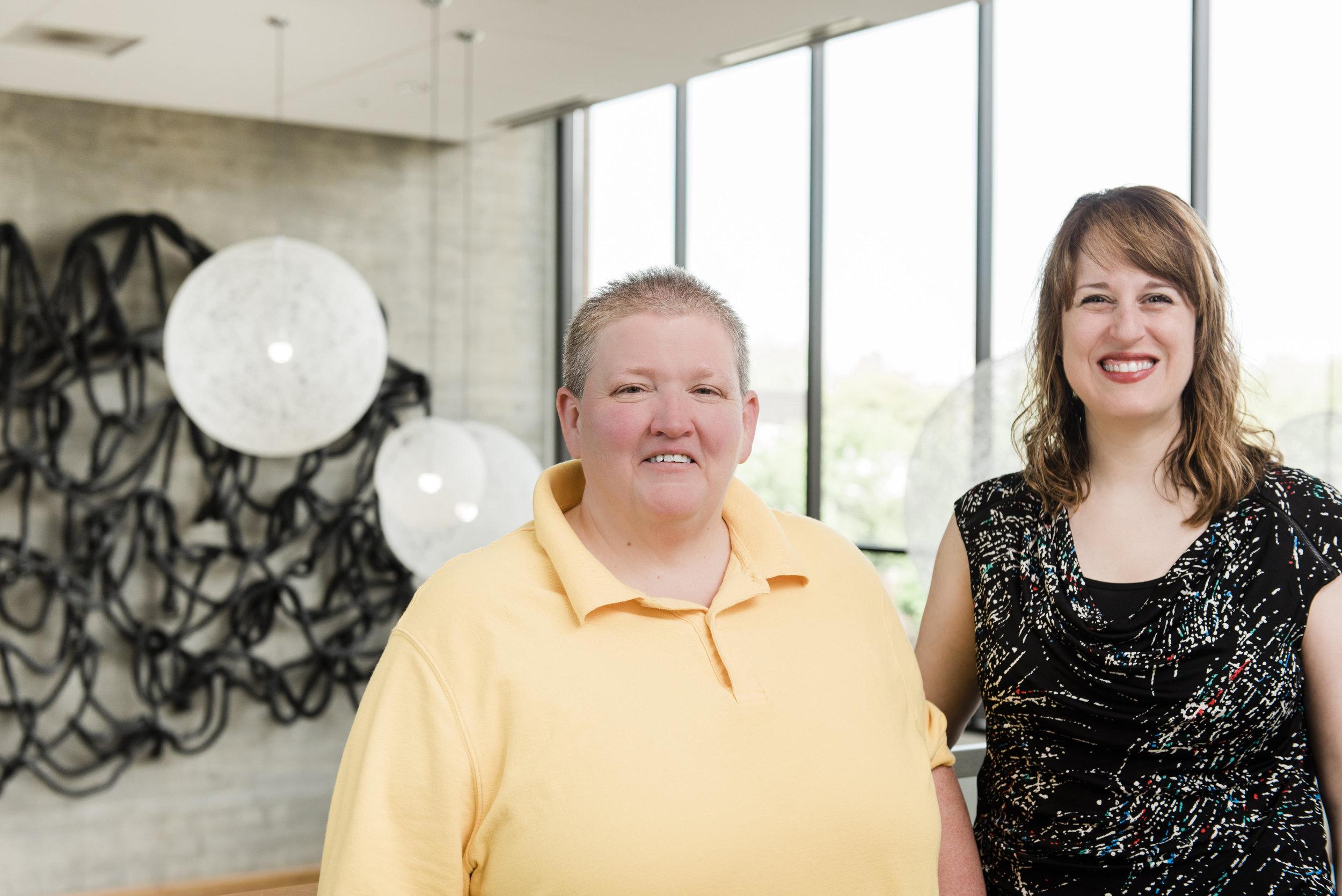 Shown here: Executive Directors, Debra Porta (Pride Northwest) and Kathy FitzGibbon (Resonance Ensemble)