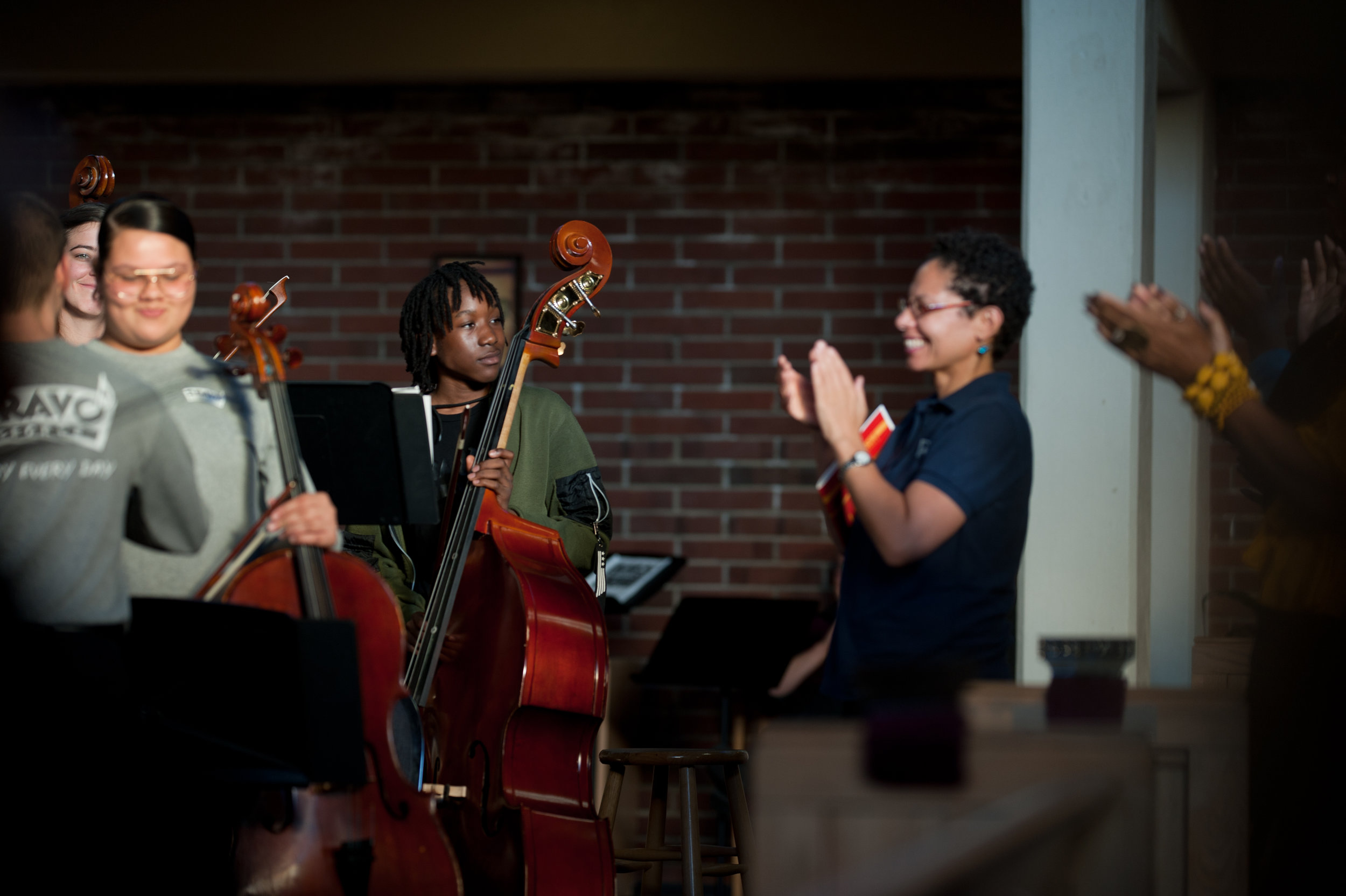 BRAVO Youth Orchestra performs at our HIDDEN VOICES concert at Bethel A.M.E. Church — October 2018  (Photo Credit: Rachel Hadiashar)