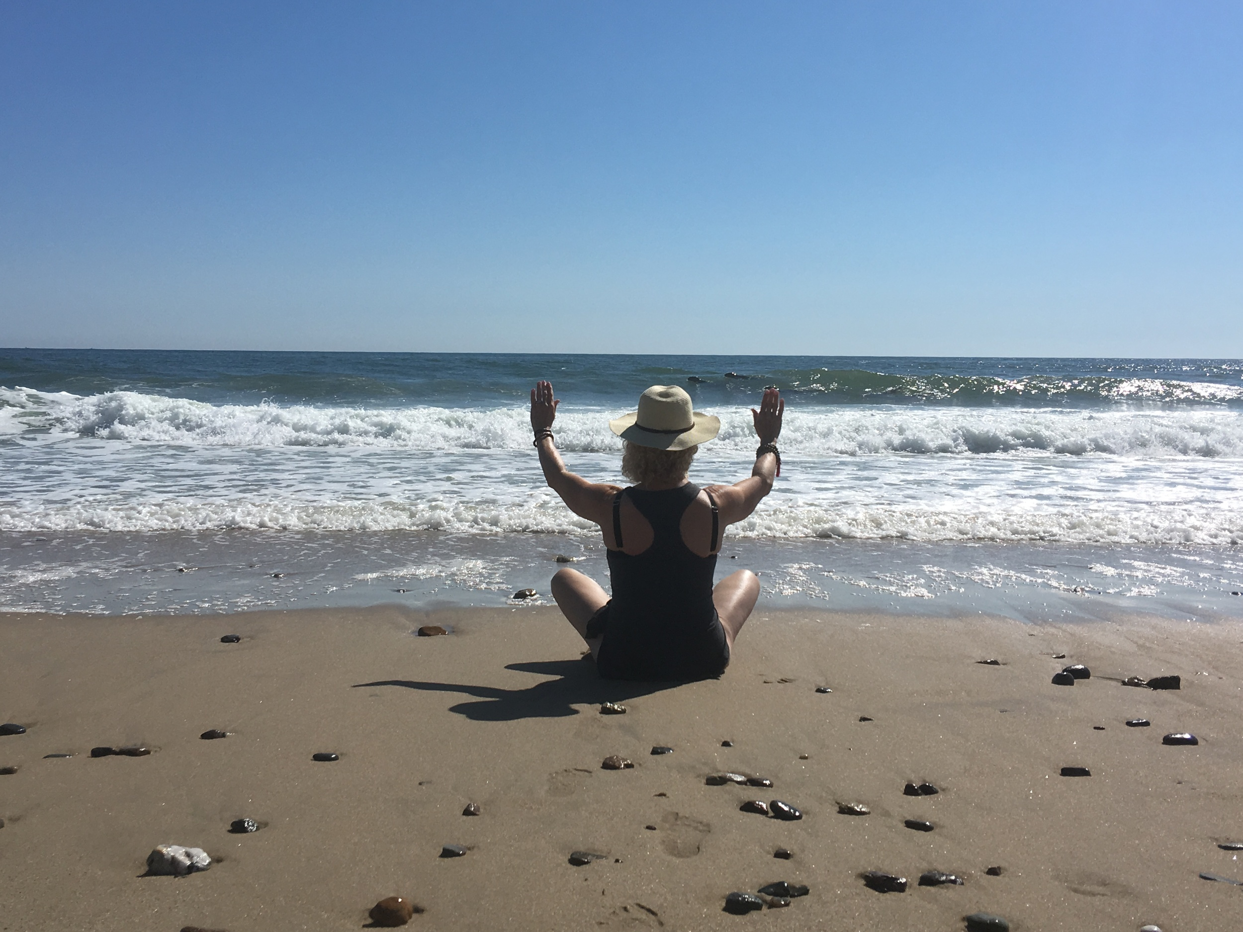 While visiting one of the beautiful beaches on the Cape this summer with my daughter, we learned that because of the growing seal population, the shark population is growing too. I decided one morning to send Reiki out to the ocean, to bless the Cape seals and protect them from the sharks. How exciting it was for me, when two seals appeared in the surf and hung out for a little while, to soak up the Reiki Rays!