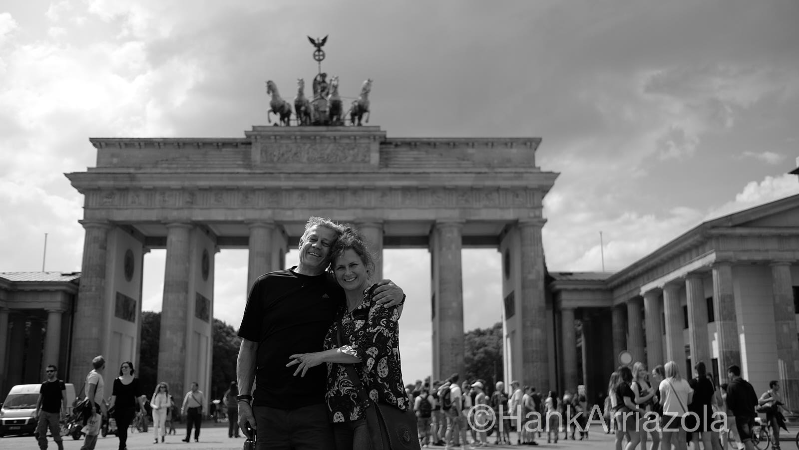 Frank and Gabi at Brandenburg gate