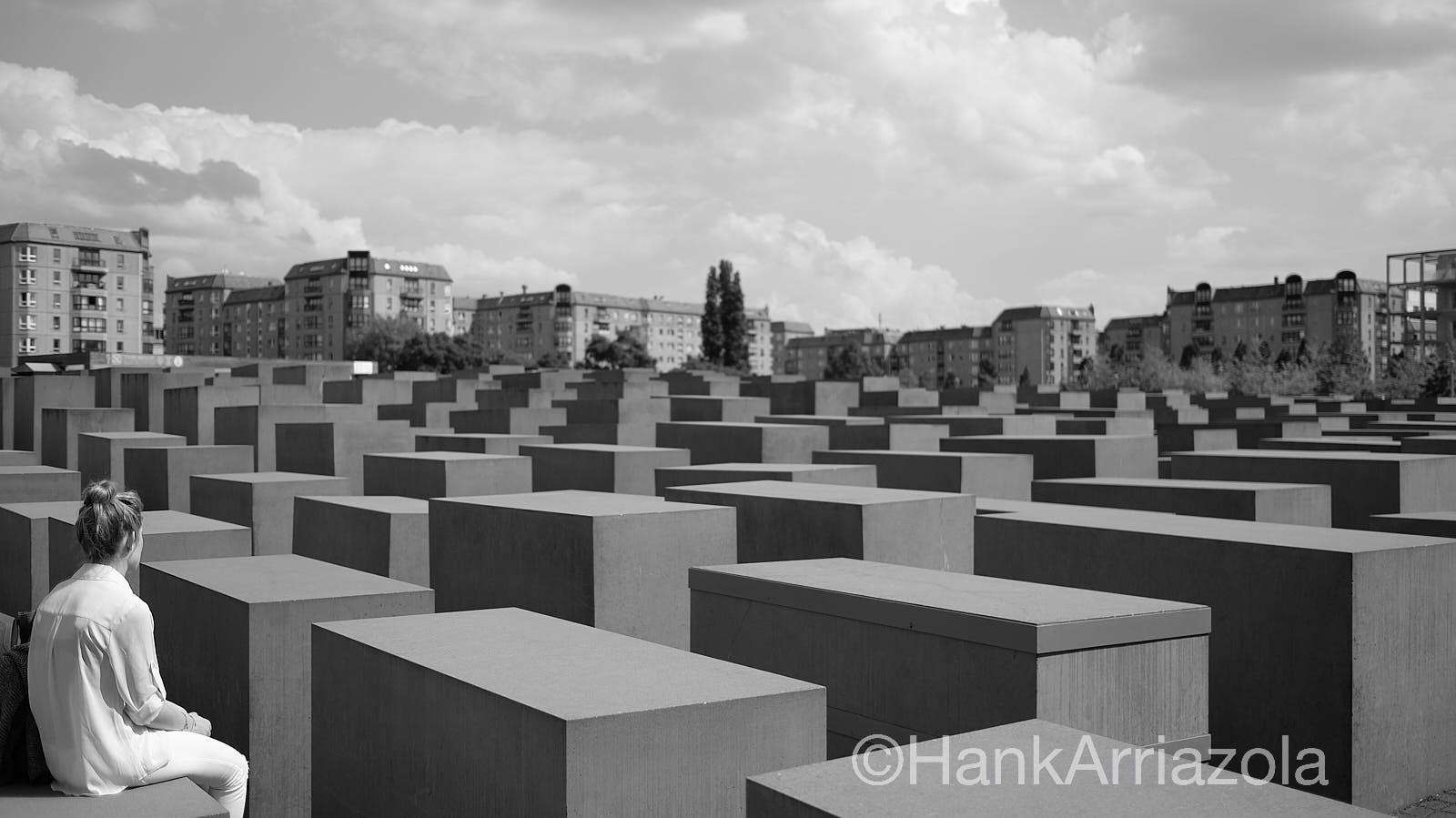 The Memorial to the Murdered Jews of Europe      there are 2711 concrete blocks of various sizes facing north to south on 4. acres