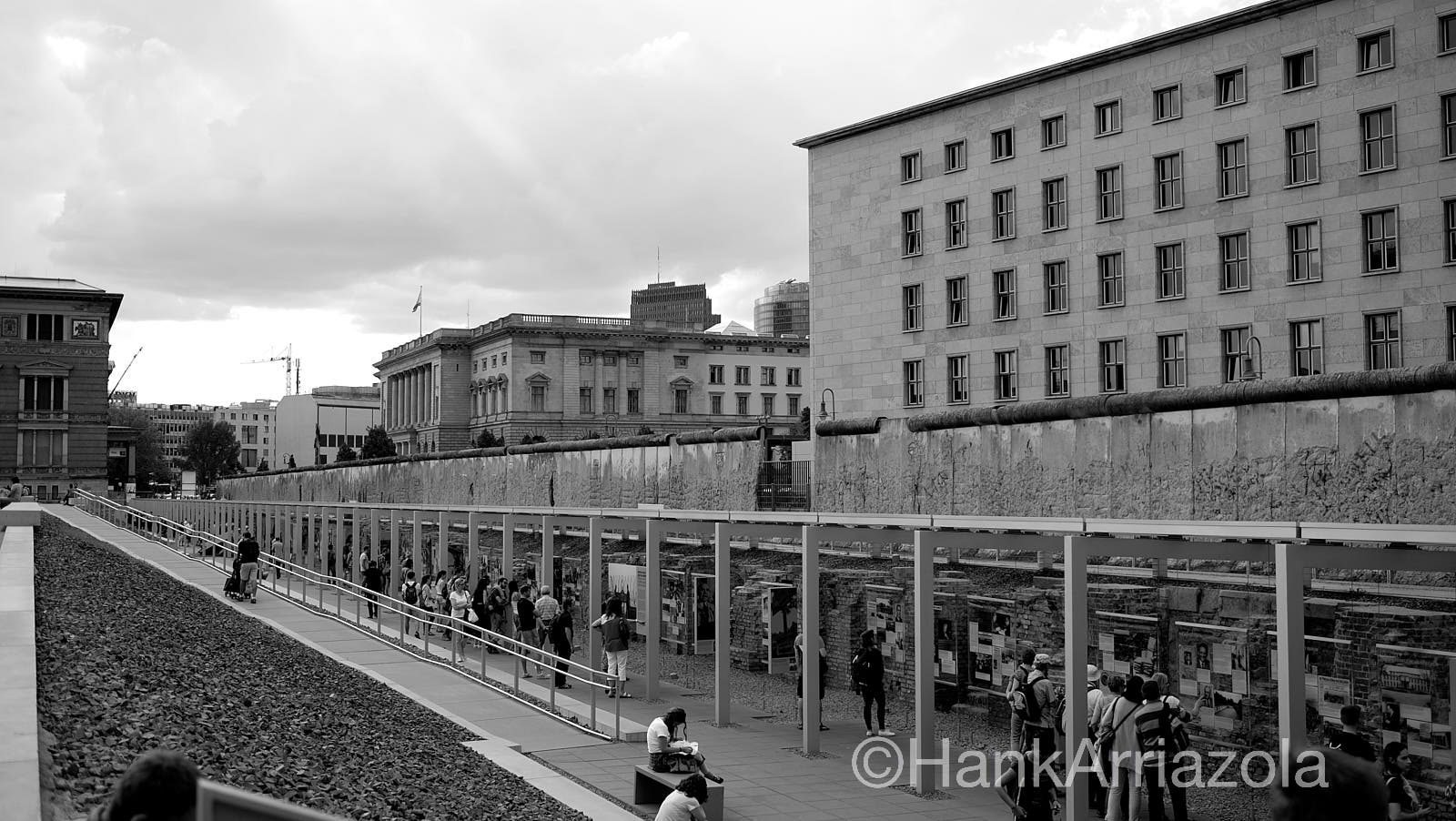 Topography of Terror Museum,    housed the former Gestapo HQ  The museum also holds the longest remaining part of the Berlin Wall