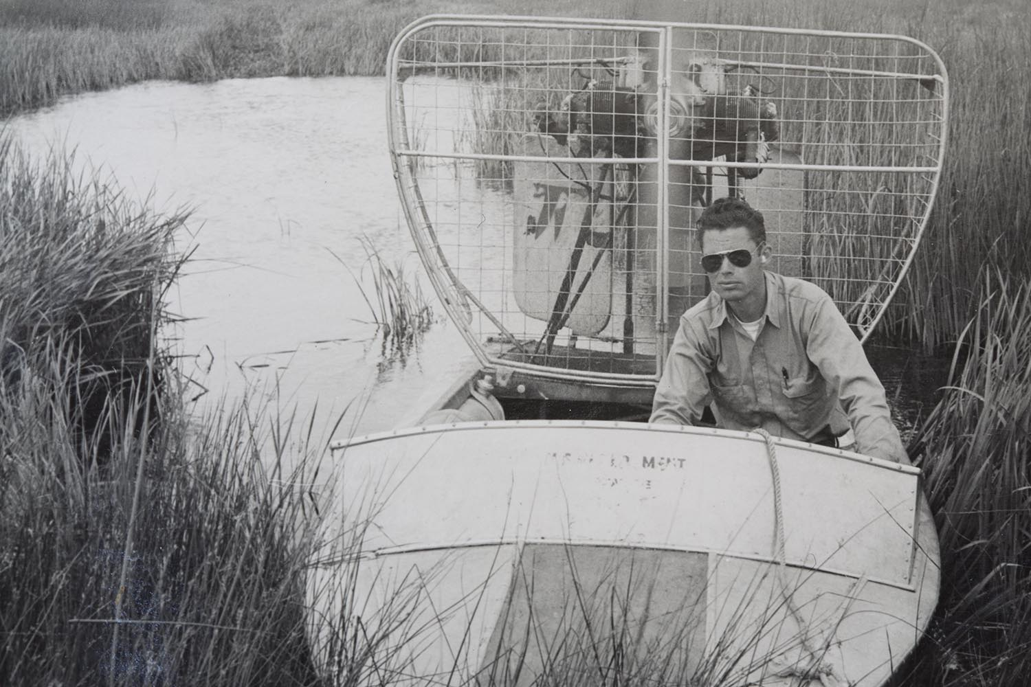 David B. Marshall at Malheur National Wildlife Refuge, Oregon in the 1950s